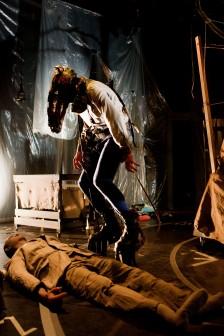 Timo Ruuskanen plays Paappa/Horse. Photo: Heli Sorjonen